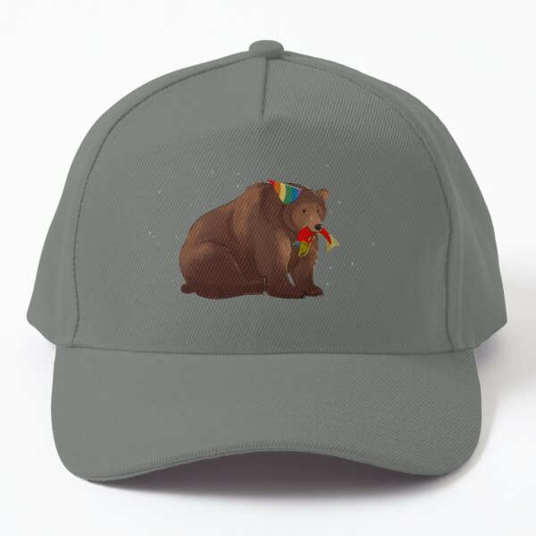 Party Bear and Party Salmon Baseball Cap