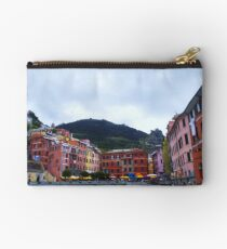 Colorful harbor of Vernazza Studio Pouch