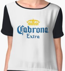 Cabrona Funny Mexican Beer Women's Chiffon Top