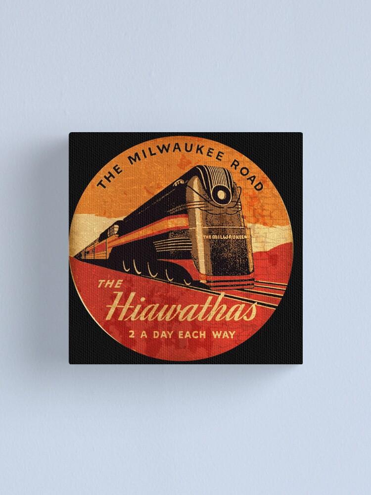 Alternate view of The Hiawatha's Milwaukee road Railway  Canvas Print
