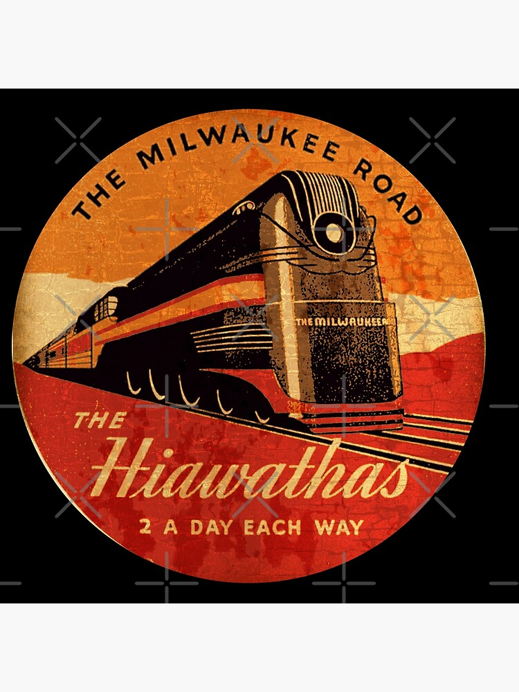 The Hiawatha's Milwaukee road Railway  by midcenturydave
