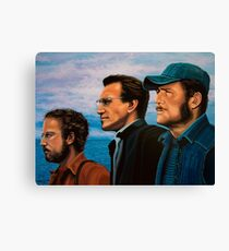 Richard Dreyfuss, Roy Scheider and Robert Shaw in Jaws Canvas Print
