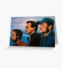 Richard Dreyfuss, Roy Scheider and Robert Shaw in Jaws Greeting Card