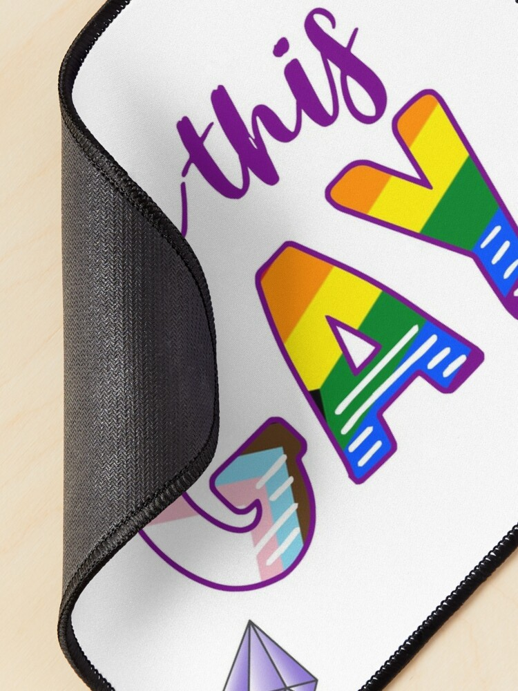Alternate view of Born this GAY fabulous LGBTQIA+ progress pride flag Mouse Pad