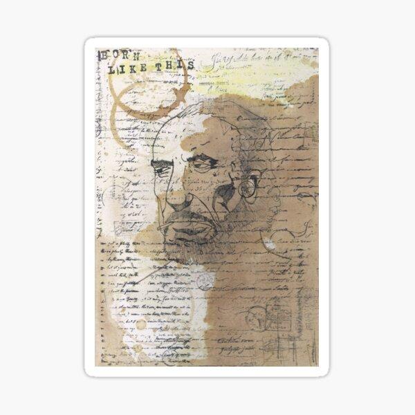 Hank - Portrait of Charles Bukowski Sticker