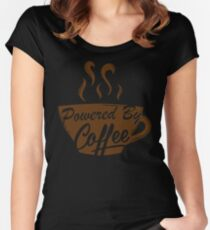 Powered By Coffee Women's Fitted Scoop T-Shirt