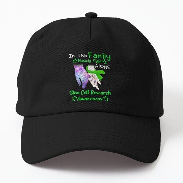Stem Cell Research Awareness Nobody Fight Alone Dad Hat