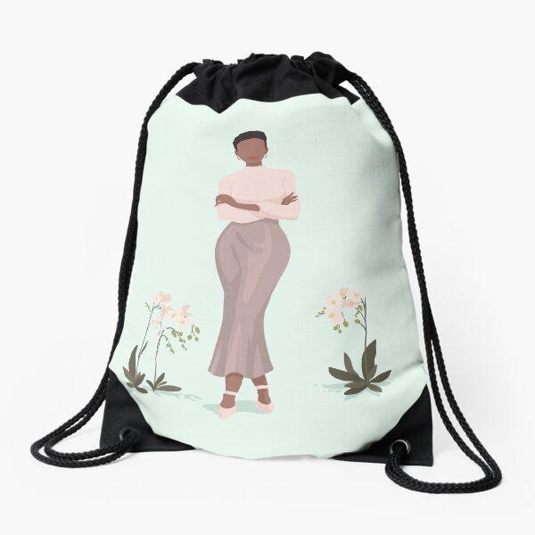 Grace Portrait - Mint Drawstring Bag