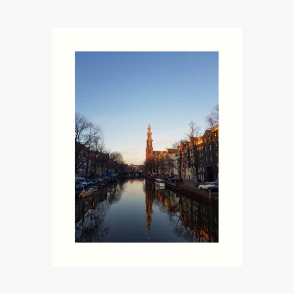 Amsterdam winter calm Art Print