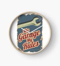 My Garage My Rules Clock