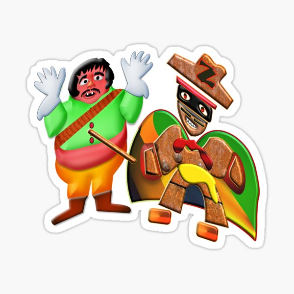 THE LEGEND OF ZORRO IN HIS NEW ADVENTURES FOR KIDS - ZORRO VS SERGEANT GARCIA - HALLOWEEN PARTY - CHRISTMAS PARTY - SUPER FUN GIFT FOR THE HOLIDAYS4. Sticker
