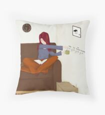 Hot Drinks On Tap Throw Pillow