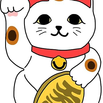 Lucky Cat Feeling Lucky Neko Maneki Encouragement by TurtlesSoup