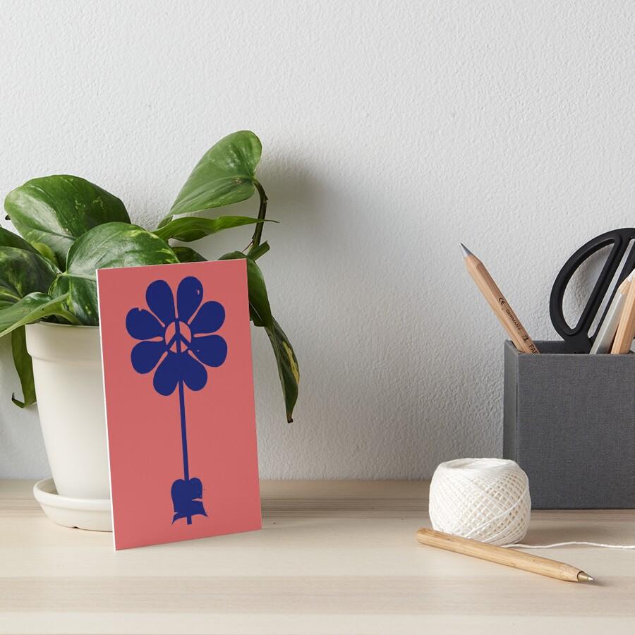 Flower Power Art Board Print
