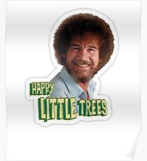 Bob Ross No Mistake Just Happy Little Trees Painter Design Poster
