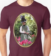 A Colonial Lady in Her Garden Slim Fit T-Shirt