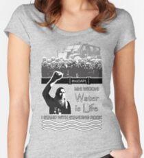 noDAPL Support Tee Women's Fitted Scoop T-Shirt