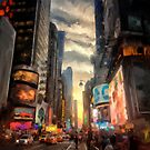 New York City Lights by Lois  Bryan