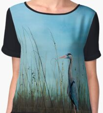 Blue without you ... Women's Chiffon Top