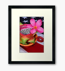Dragon Fruit Dessert Framed Print