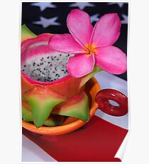 Drachenfrucht Dessert Poster