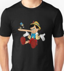 Jiminy Cricket angry with pinocchio Unisex T-Shirt