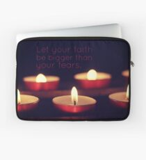 Let your faith be bigger than your fears. Laptop Sleeve