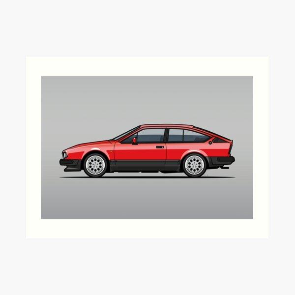 Alfa Romeo GTV6  Art Print
