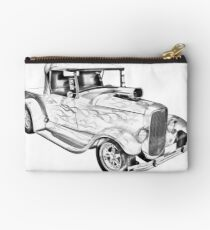 Model A Ford Pickup Hot Rod Illustration Studio Pouch