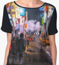 Only go out at night - Broadway Women's Chiffon Top
