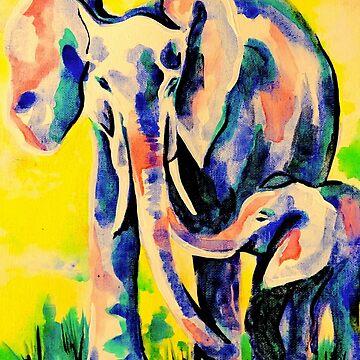 Elephant eskimo kiss by KateMarieLewis