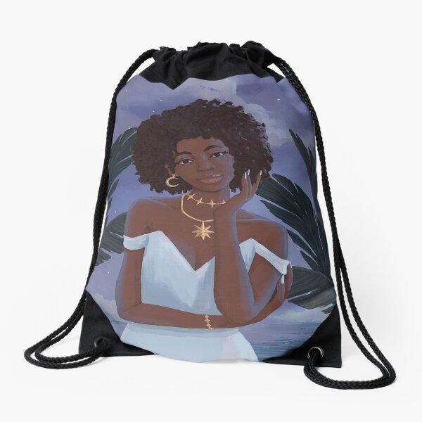 Thea Portrait Drawstring Bag