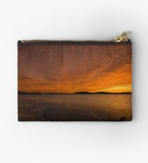 Sunset at Swansea lake Macquarie NSW Studio Pouch