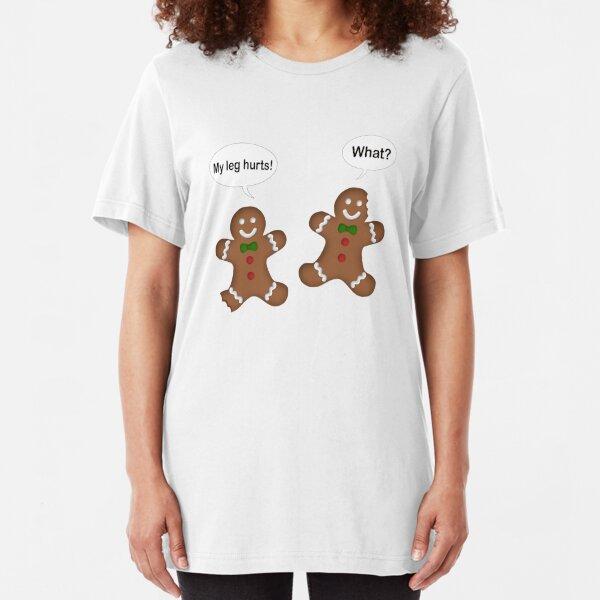 Christmas Gingerbread Men  Slim Fit T-Shirt