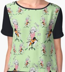 Hairdressers at work  Women's Chiffon Top