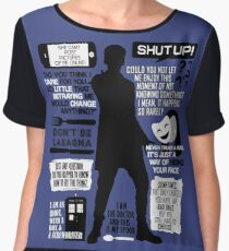 Doctor Who - 12th Doctor Quotes Women's Chiffon Top