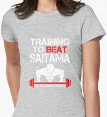 Training to Beat Saitama Womens Fitted T-Shirt