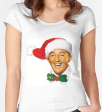 Bing Crosby christmas Women's Fitted Scoop T-Shirt