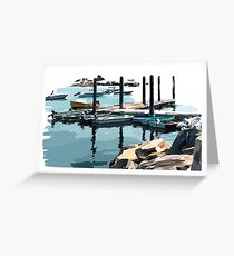 Group of Boats 2 Greeting Card
