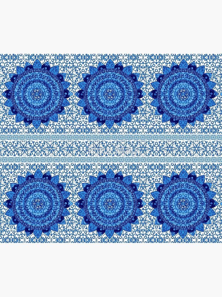 Blue Glitter Jacquard Mandalas by ninabmay