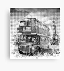 Graphic Art LONDON WESTMINSTER Busse  Canvas Print