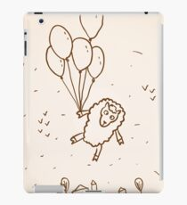 Funny sheep with balloons iPad Case/Skin