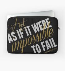 Impossible To Fail Quote T-shirts & Homewares Laptop Sleeve