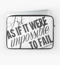 Impossible To Fail Black Text Quote T-shirts & Homewares Laptop Sleeve