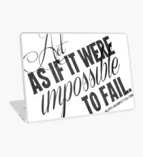 Impossible To Fail Black Text Quote T-shirts & Homewares Laptop Skin