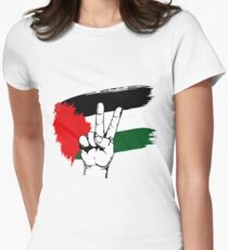 PEACE PALESTINE Women's Fitted T-Shirt