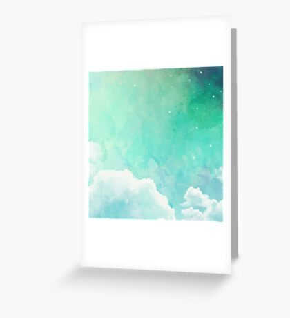 Above the sky Greeting Card