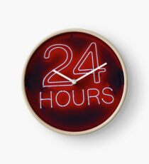 24 hrs in red  Clock