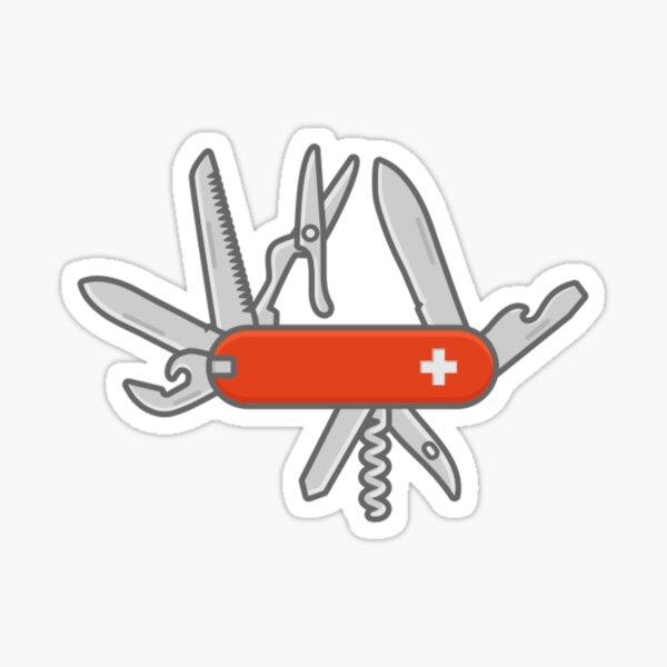 Swiss Army Knife White Sticker