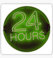 24 hrs green Sticker